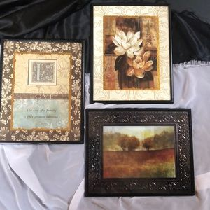 Other - 🔴3 for $10Set wall art